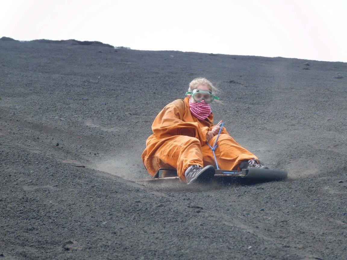 image of volcano boarding in Nicaragua
