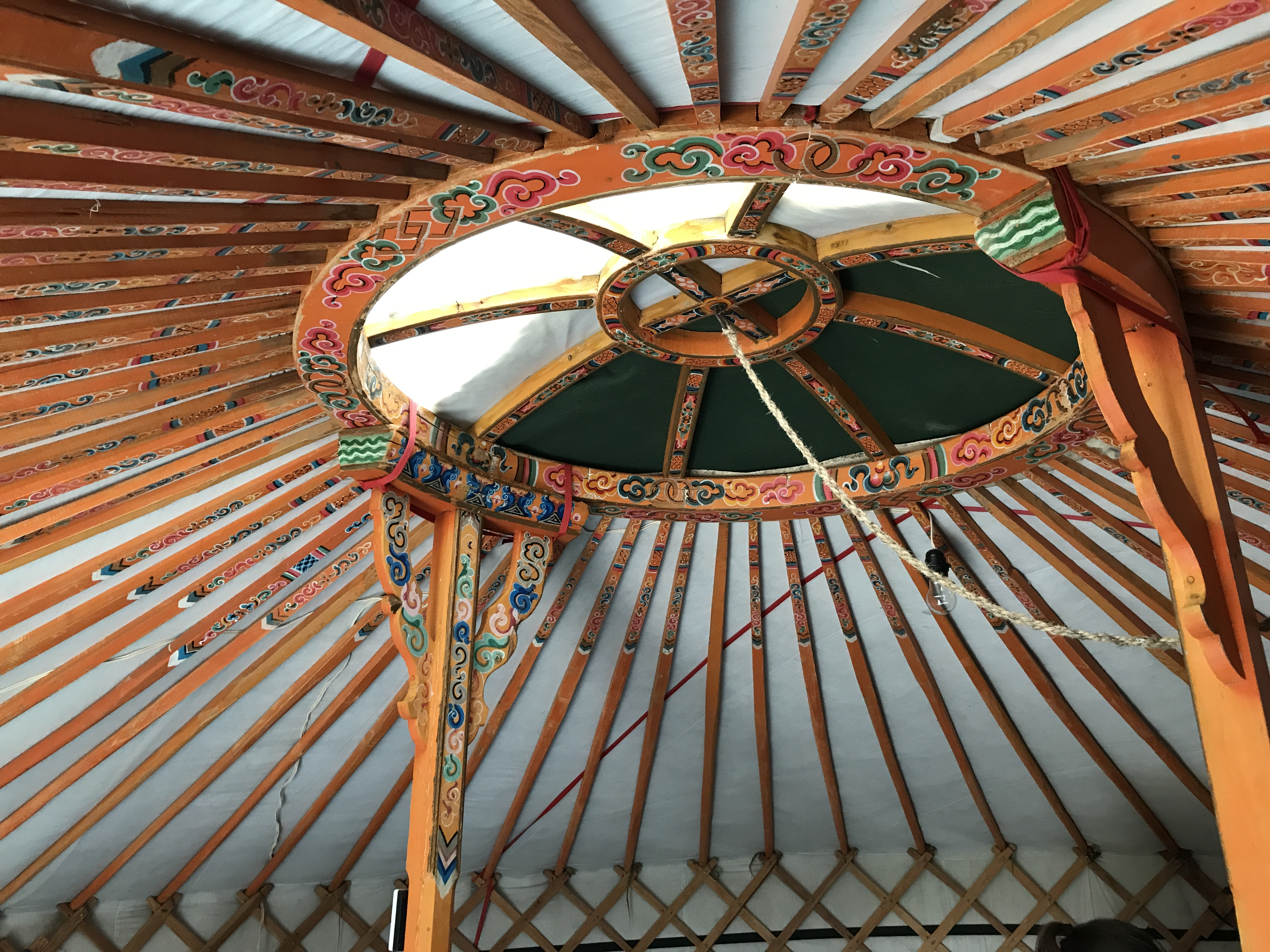 image of ceiling of Mongolian Ger