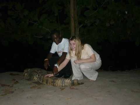 image of crocodile in Hans botel in ghana