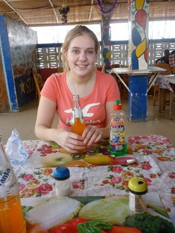 image of drinking Fanta in twifu praso in ghana