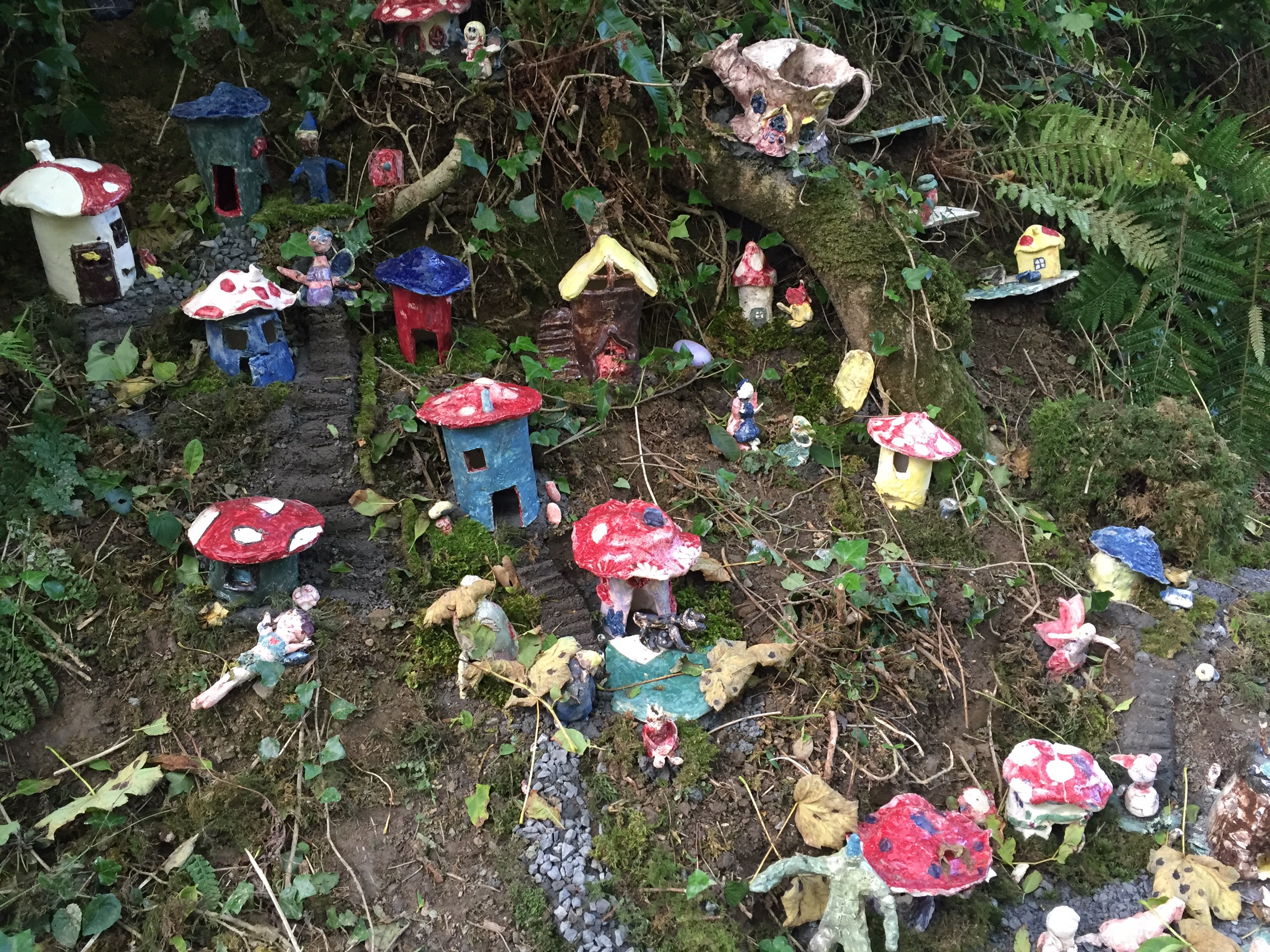 image of fairy houses at Doolin Cave in county Galway