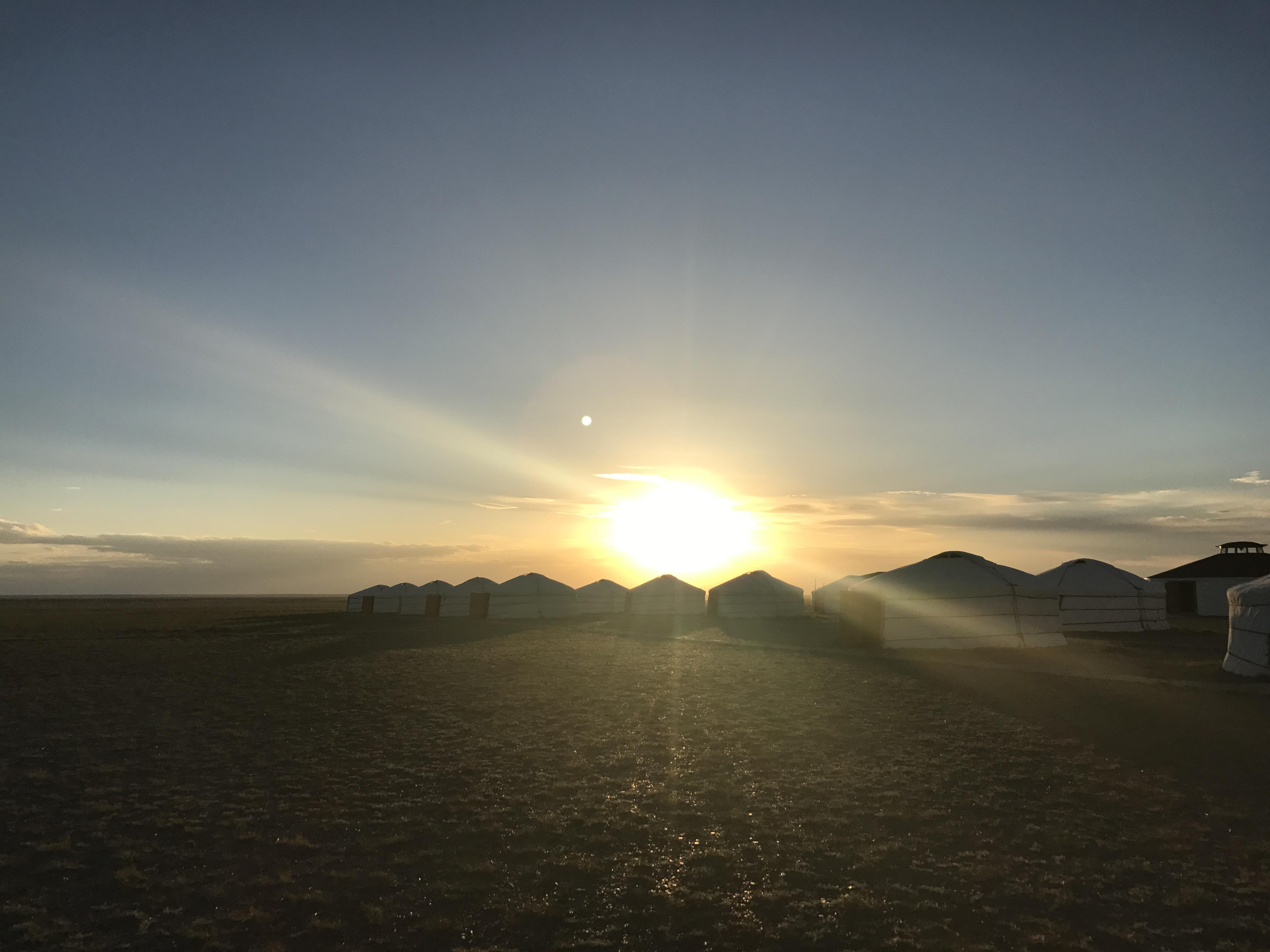 image of ger camp in Gobi Desert