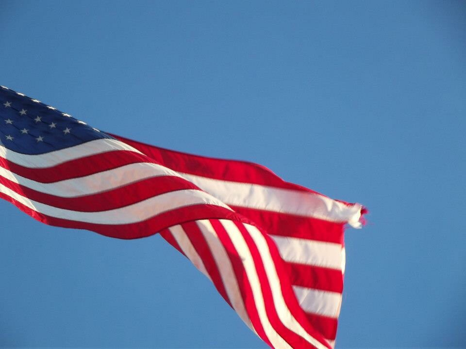 Image of the Stars and Stripes Flag, visiting New York for the first time
