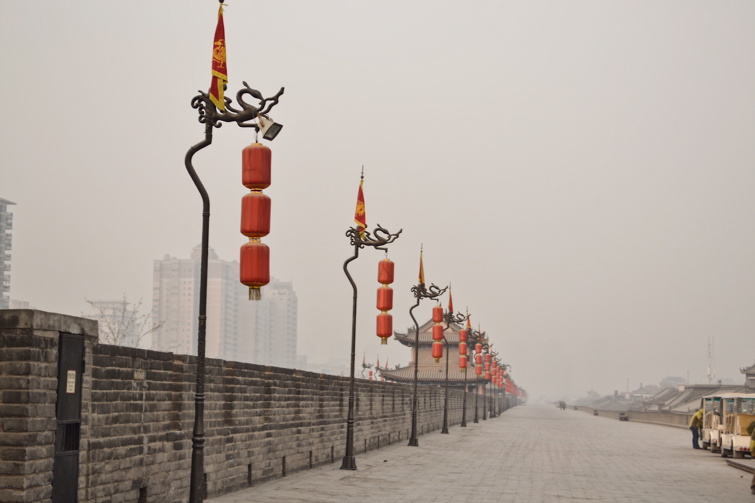 Image of city walls in Xi'an China