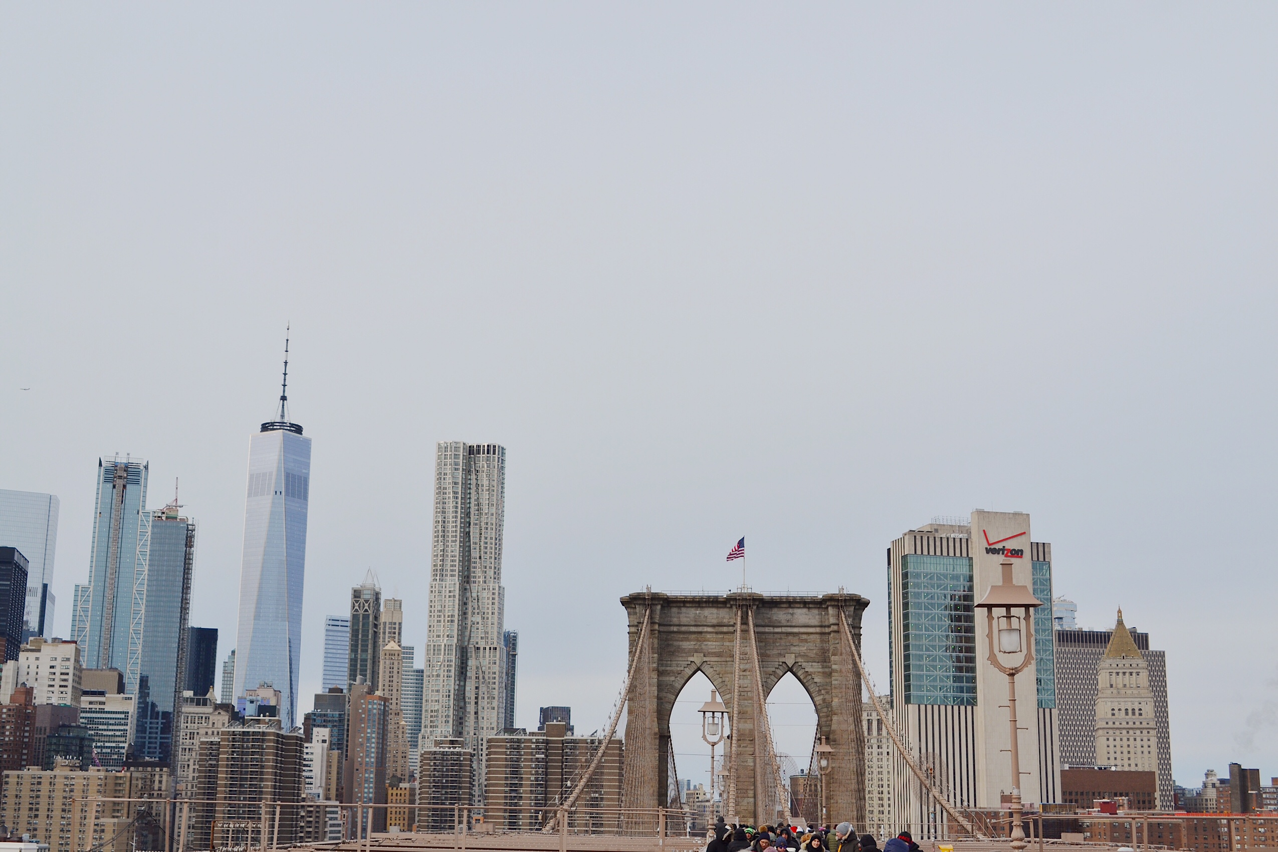 image of Brooklyn bridge and new York