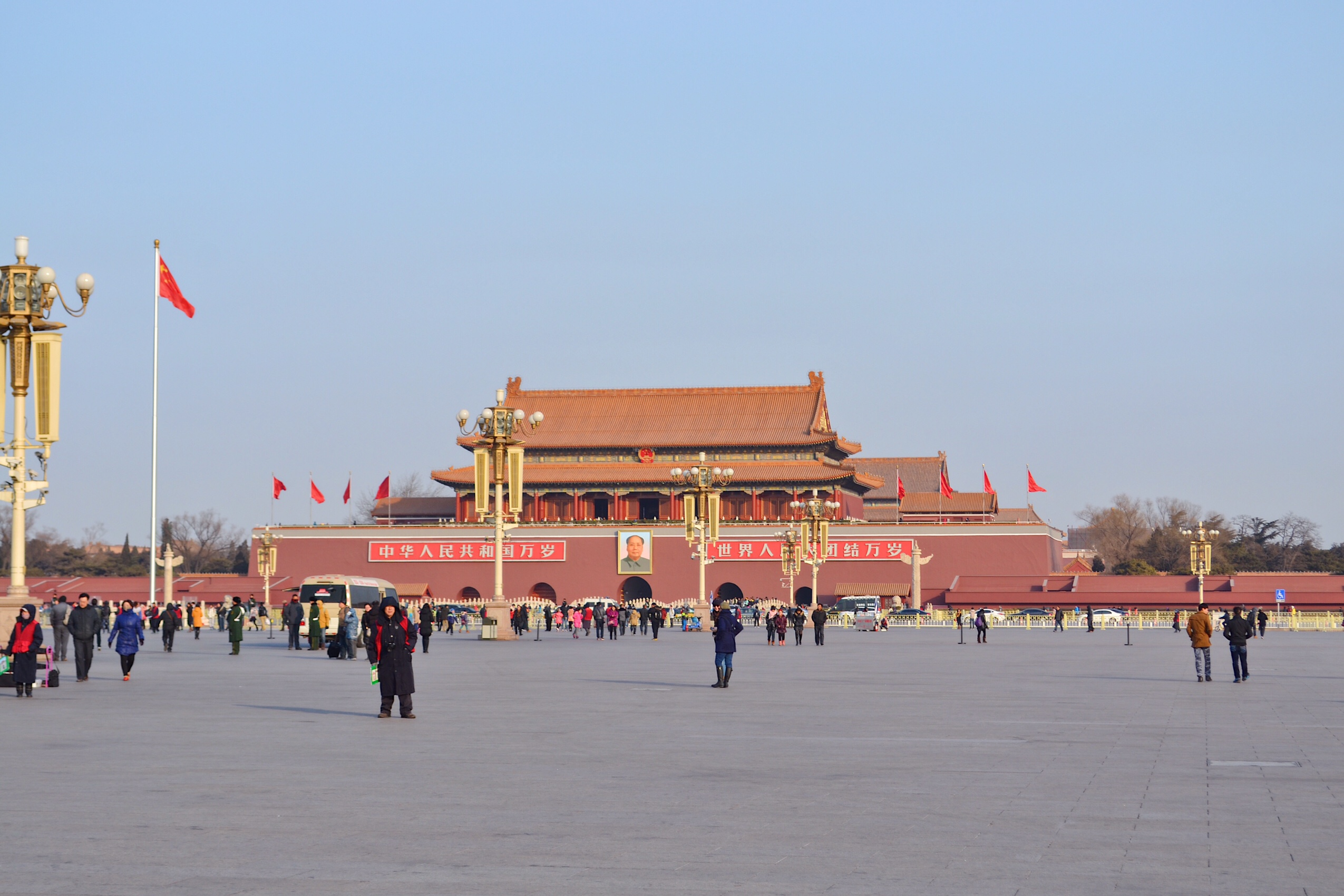 Image of tiananmen square in Beijing, China