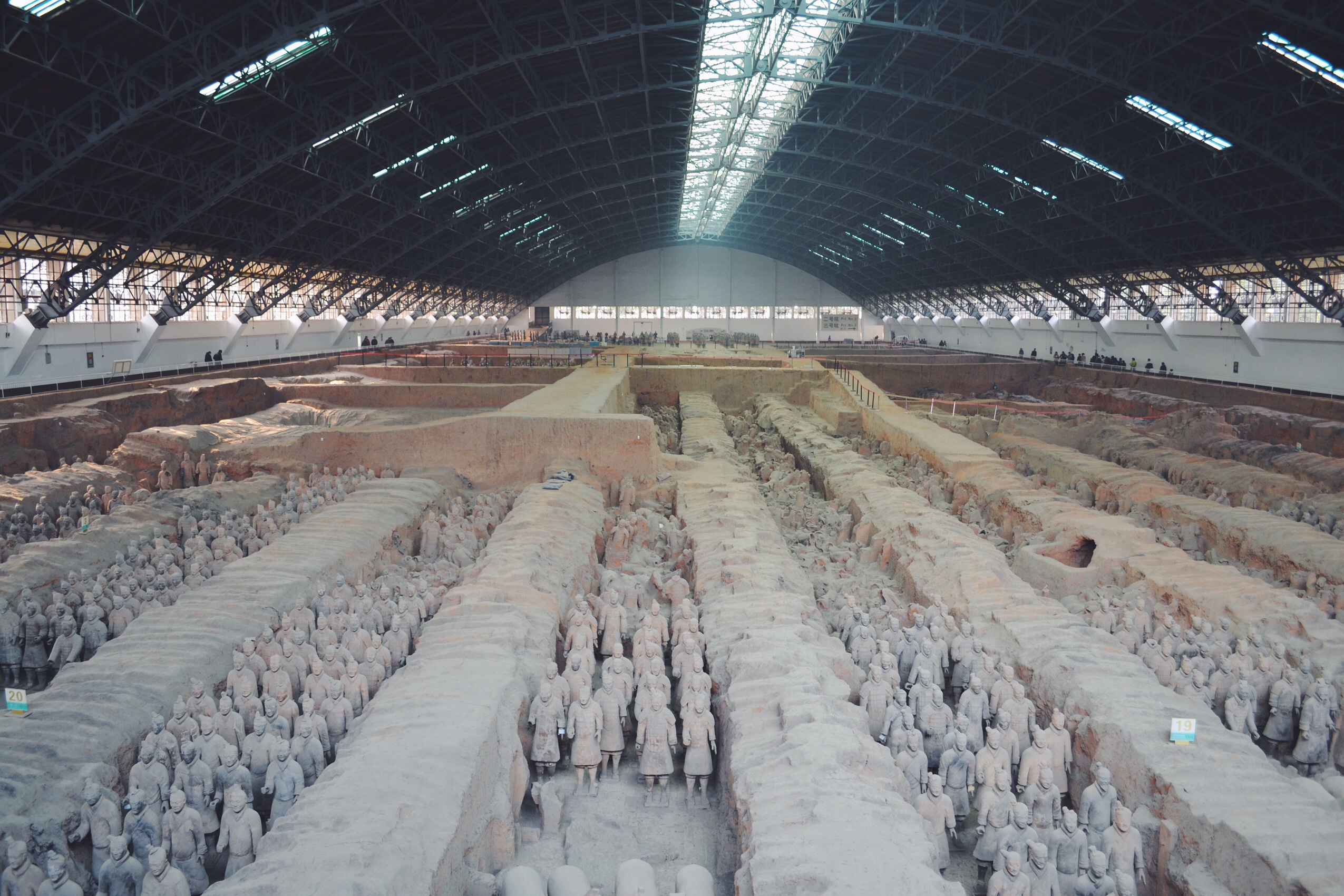 Image of terracotta warriors in China