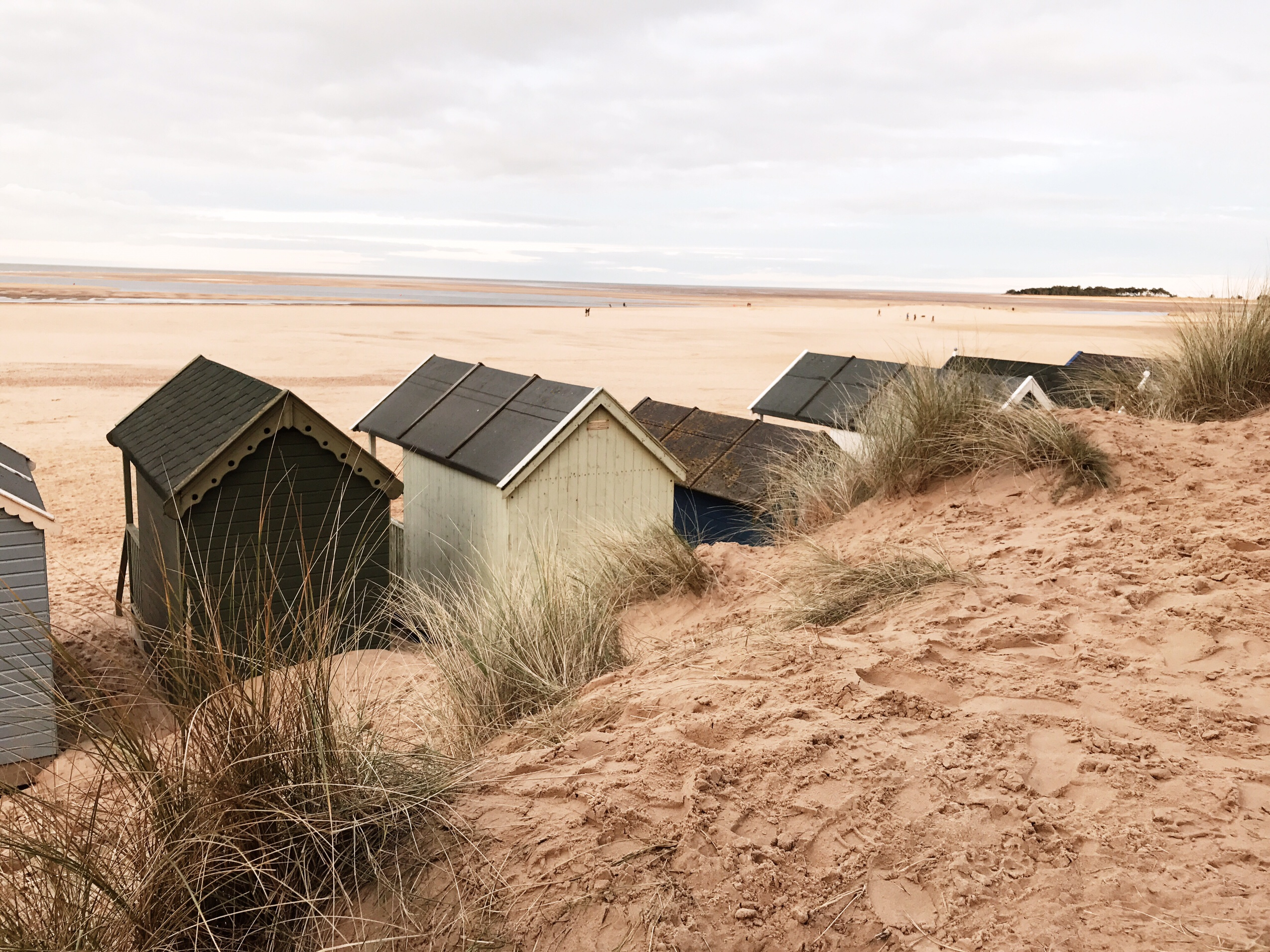 image of beach huts in Norfolk