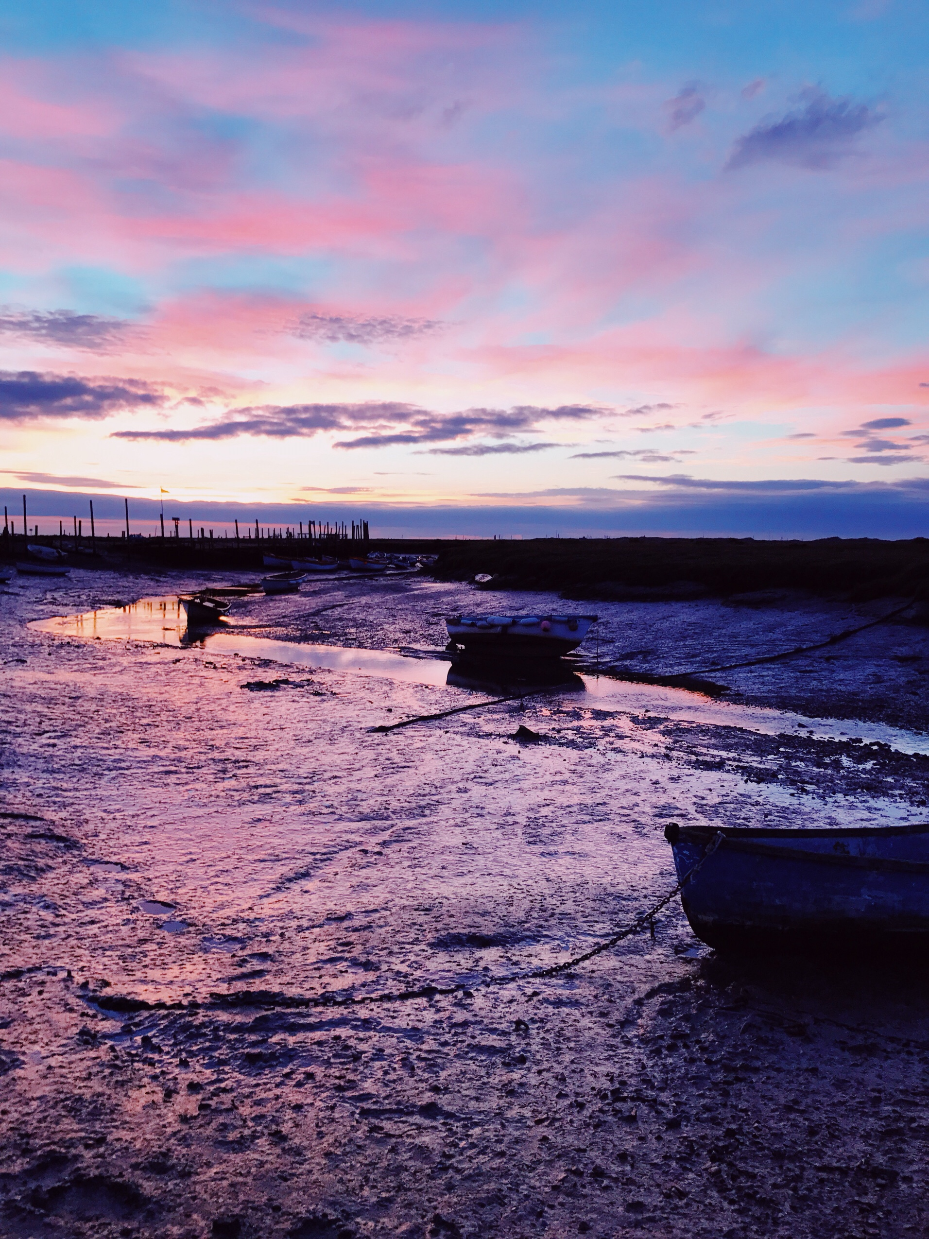 image of Sunset at Morston Quay in Norfolk
