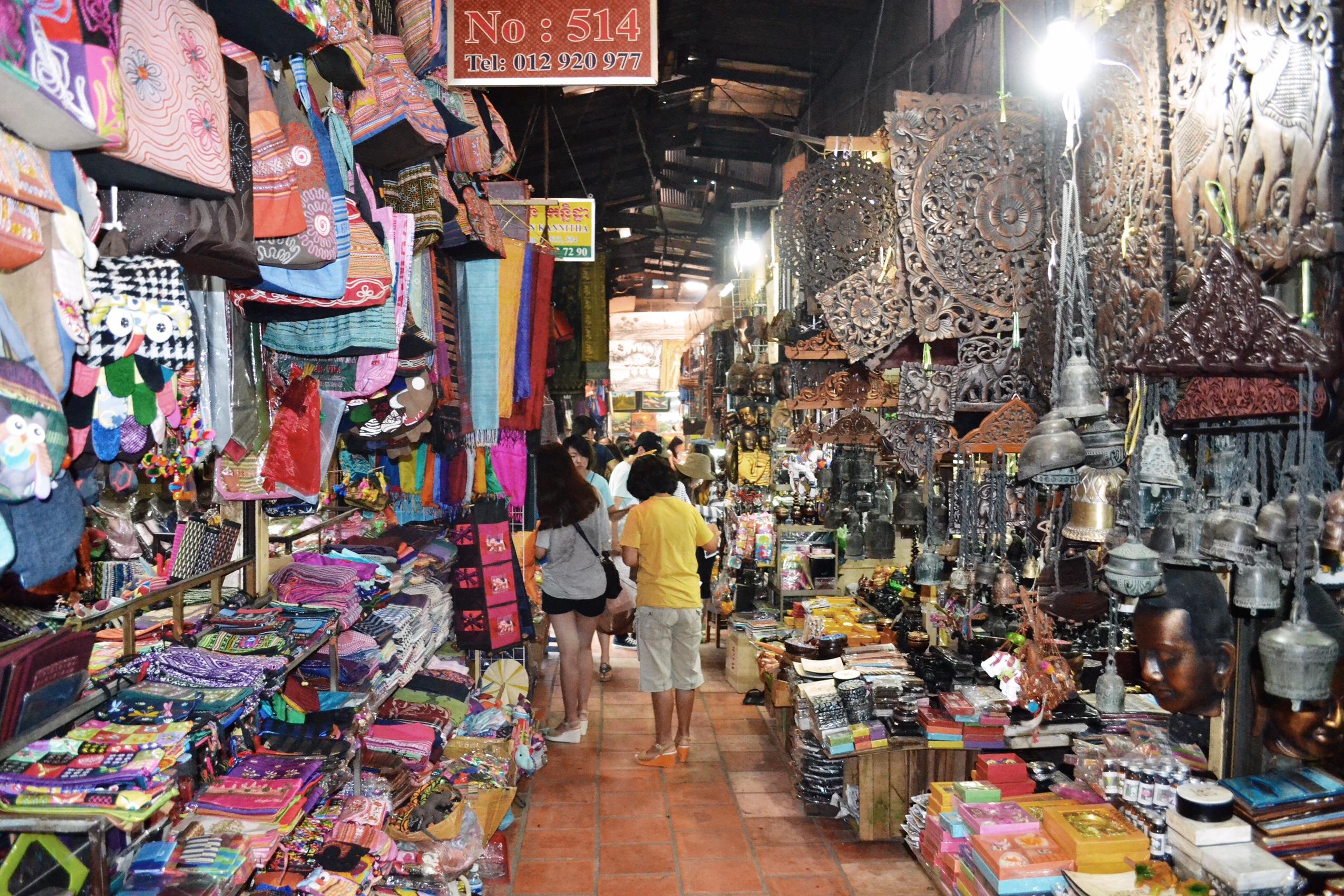 image of Russian market in Cambodia