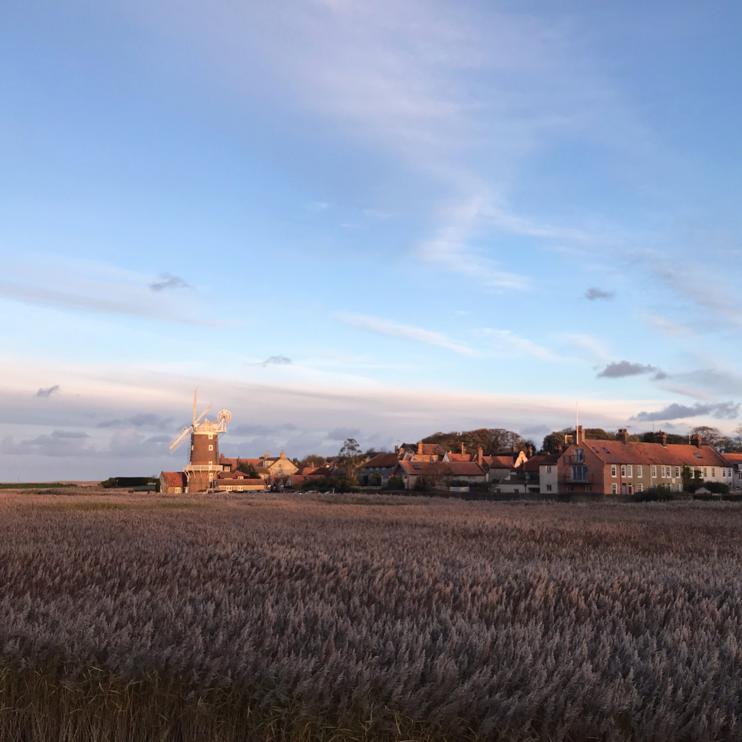 image of cley windmill at sunset in Norfolk