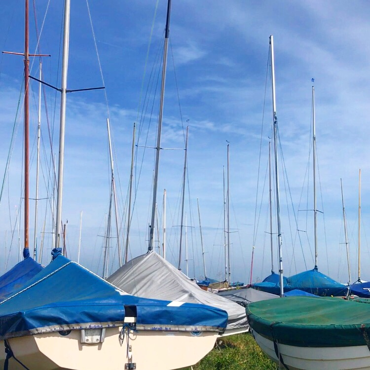 image of sailing boats at Blakeney Quay in Norfolk