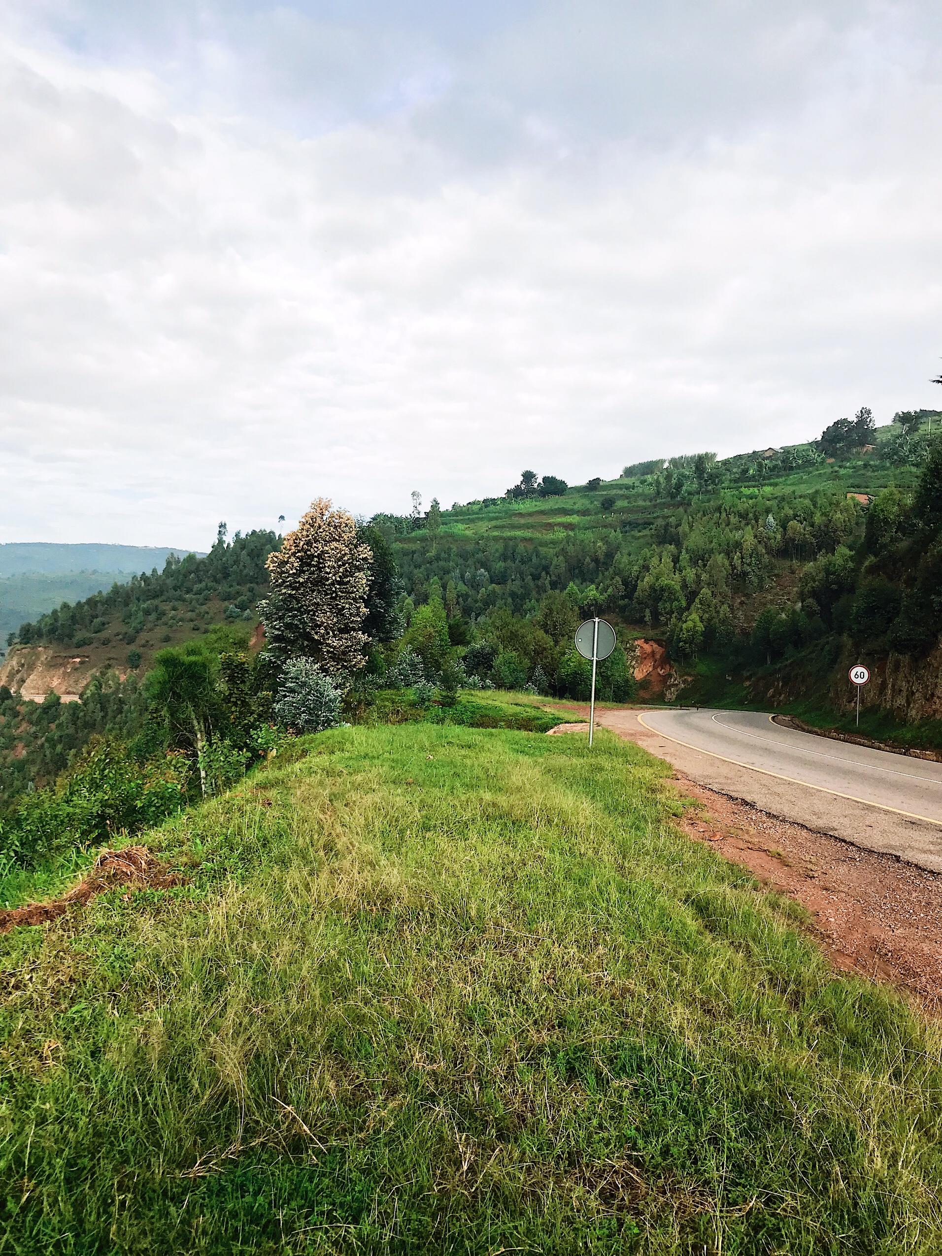 Image of a road in Rwanda
