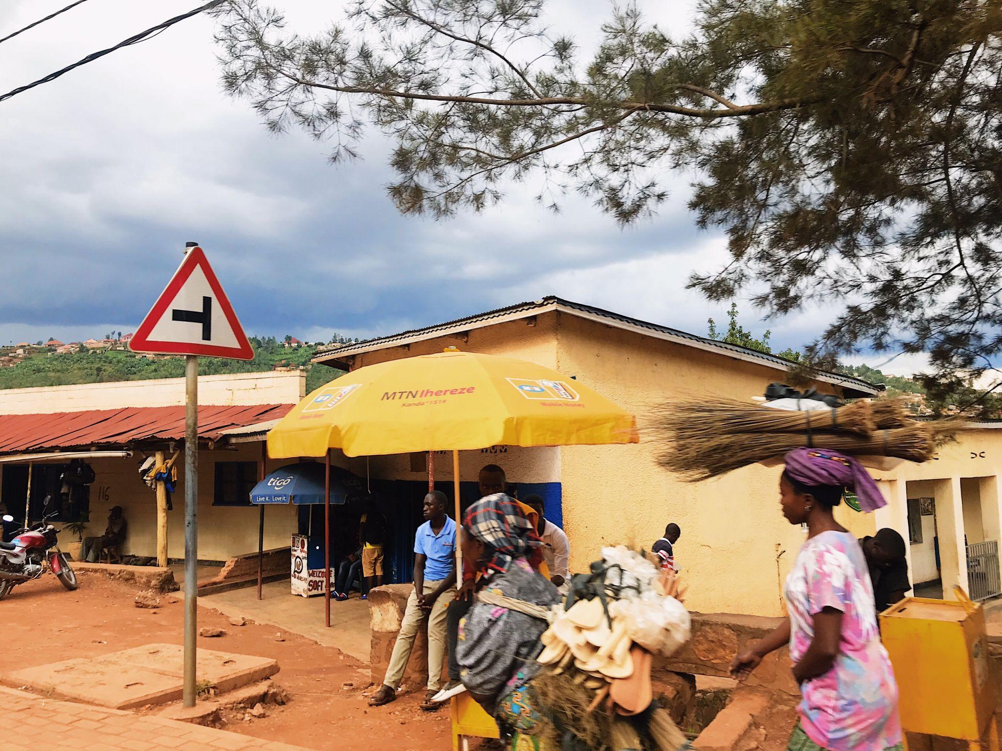 Image of a street in Rwanda
