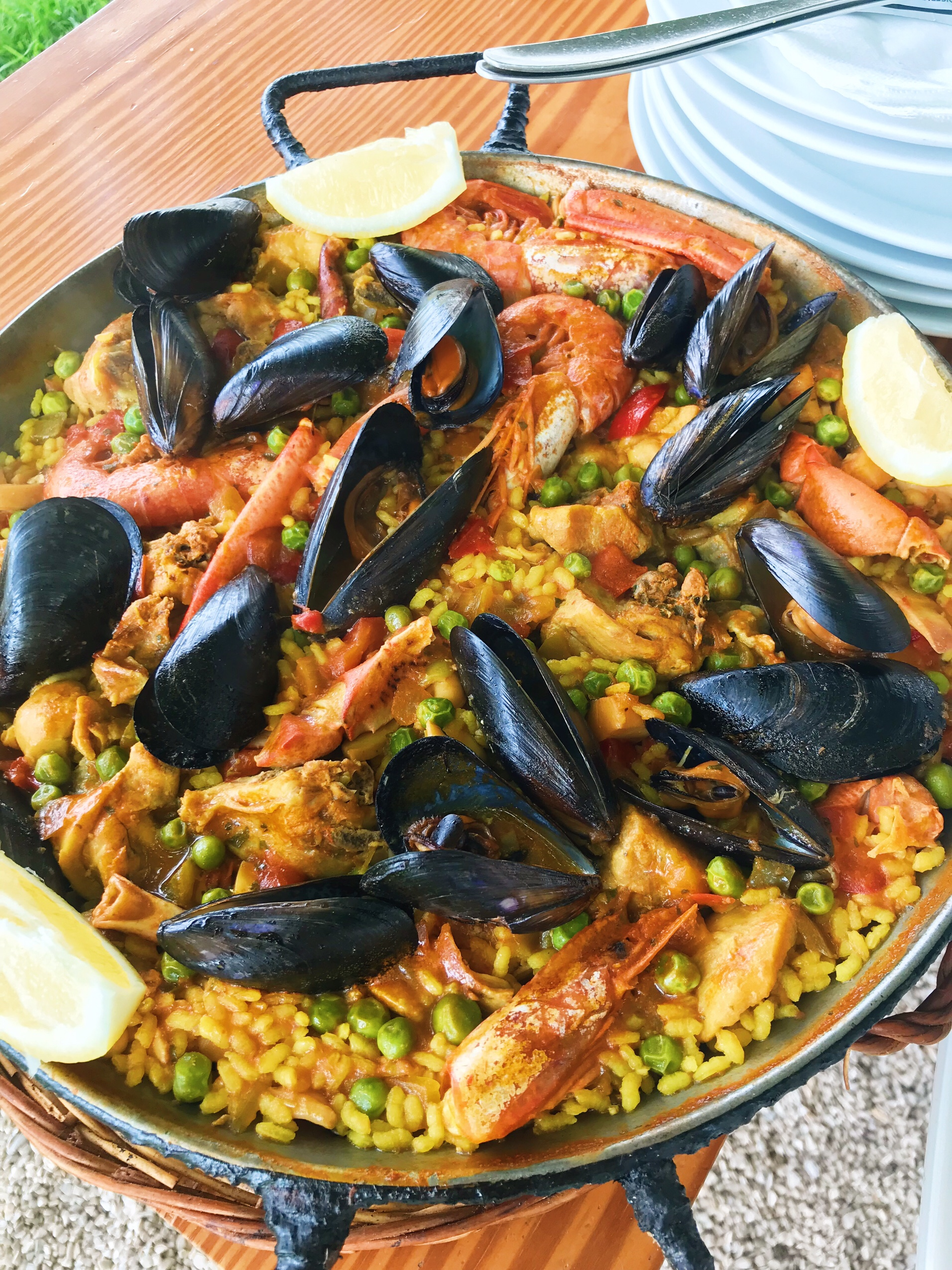 Picture of paella at Binimel-la in Menorca