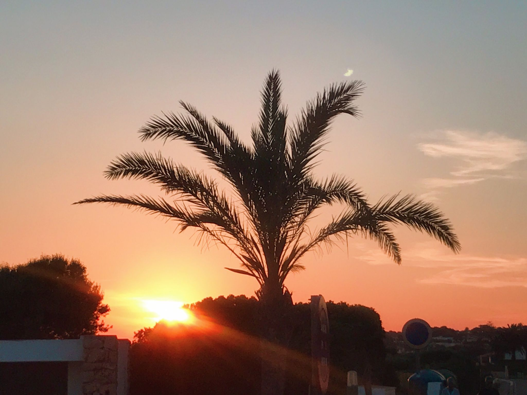Picture of sunset over Menorca