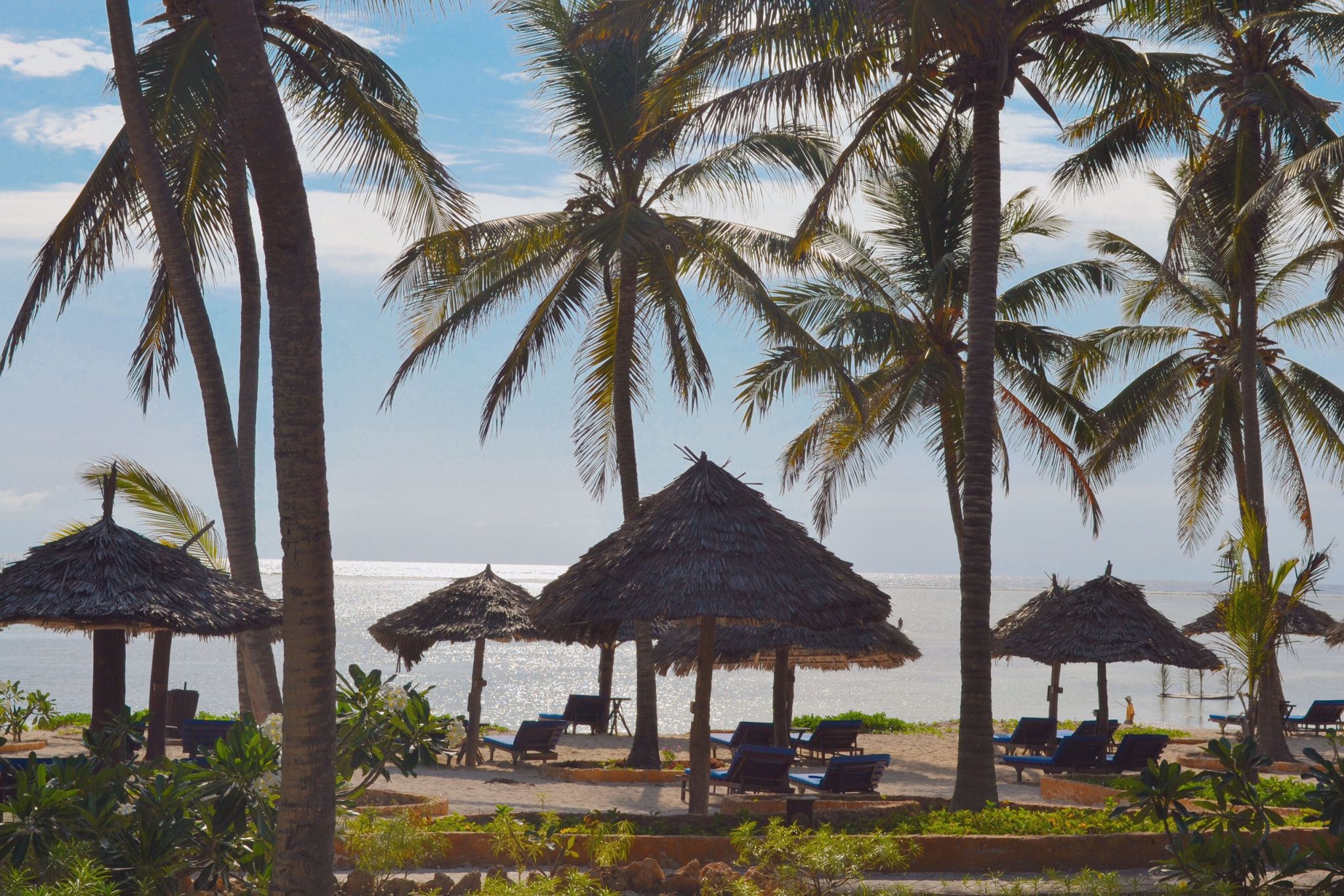 Image of private beach at Dongwe Club in Zanzibar
