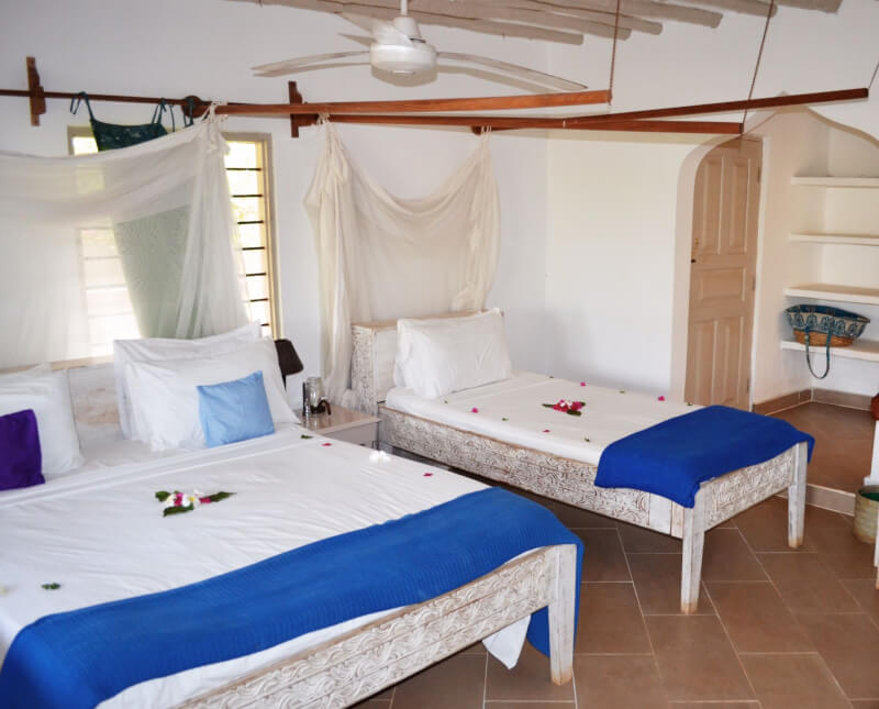 image of hotel room in Matemwe Beach Village in Zanzibar