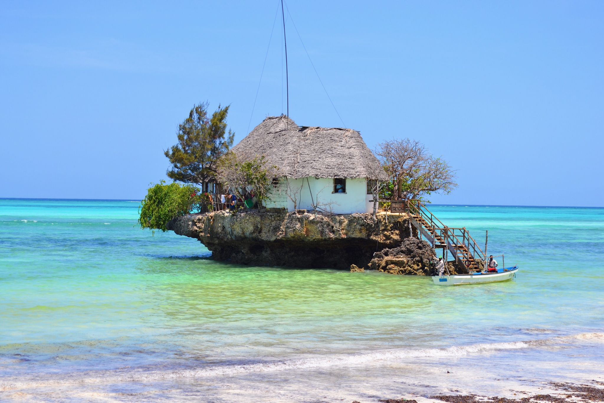image of the Rock restaurant in Zanzibar