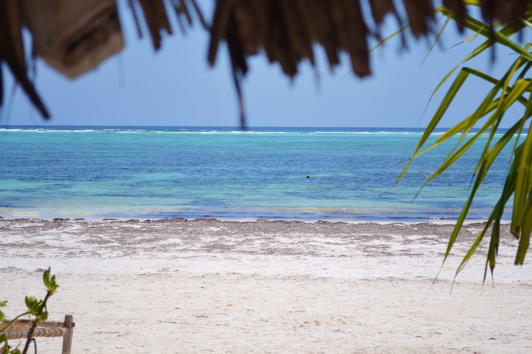 Image of the sea from Matemwe beach in Zanzibar