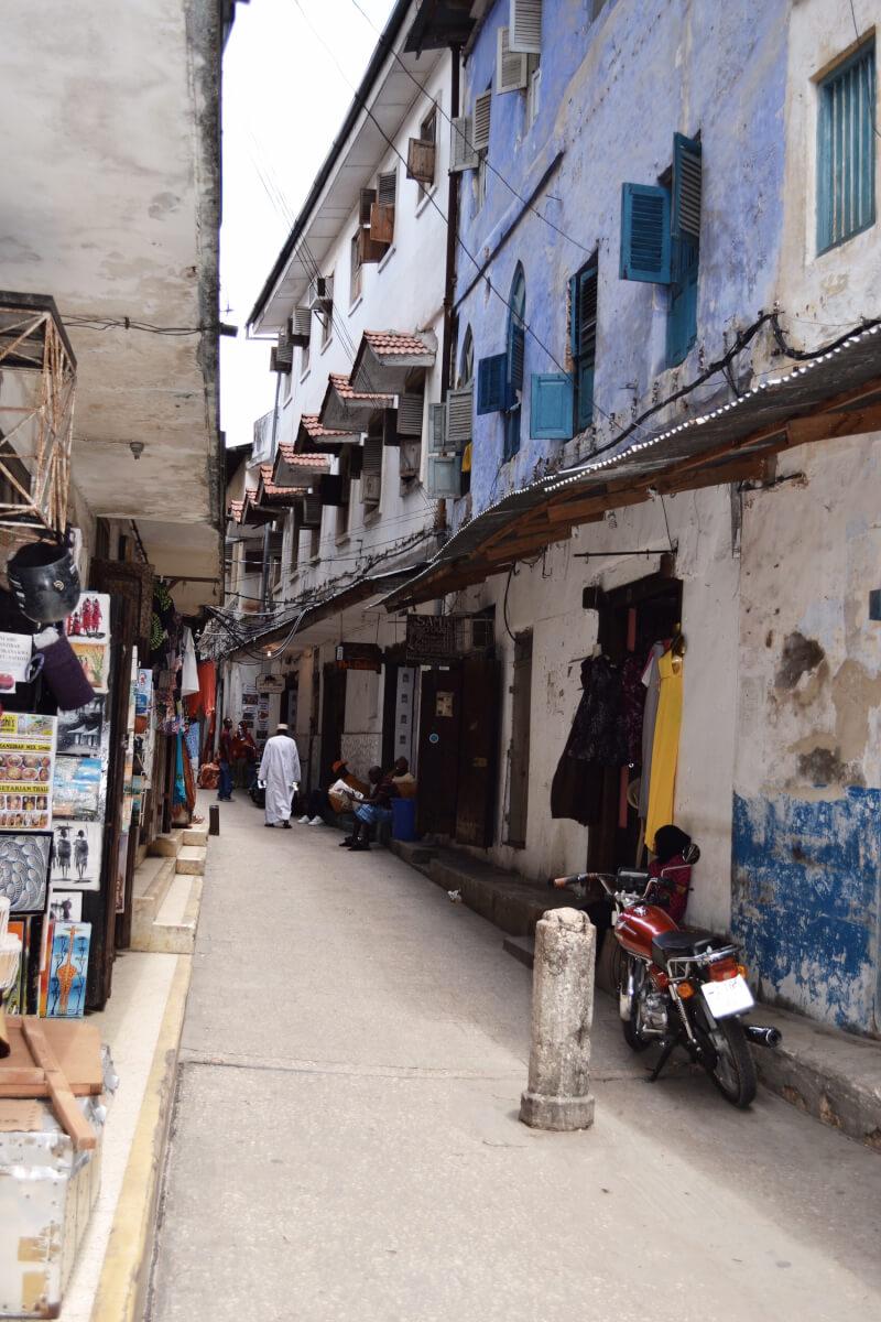 image of street in Stone Town in Zanzibar