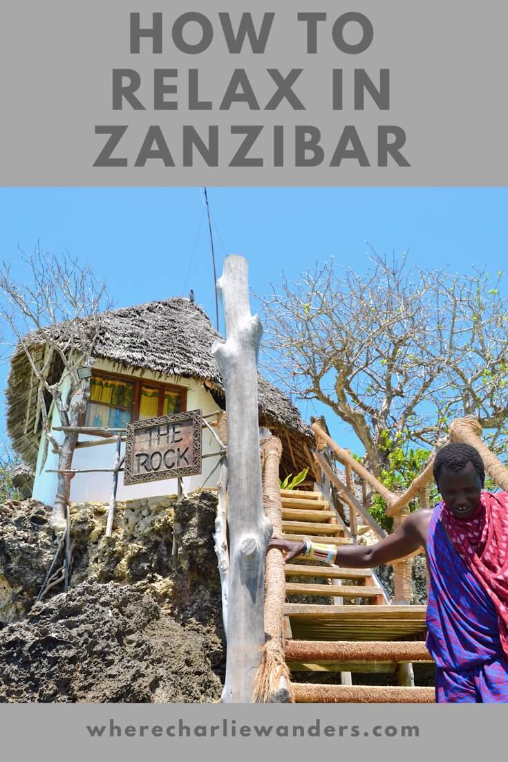 Image of Pinterest graphic for how to relax in Zanzibar post