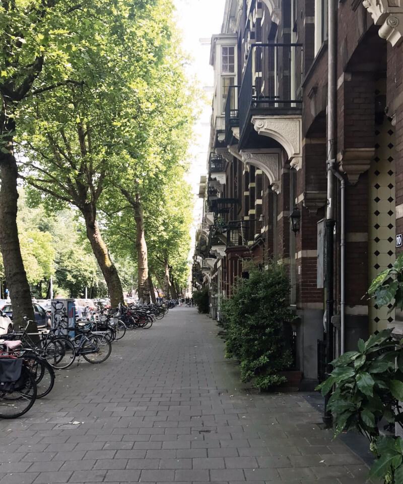 Image of street in De Pijp, Amsterdam