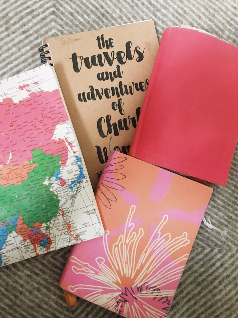 image of collection of travel journal