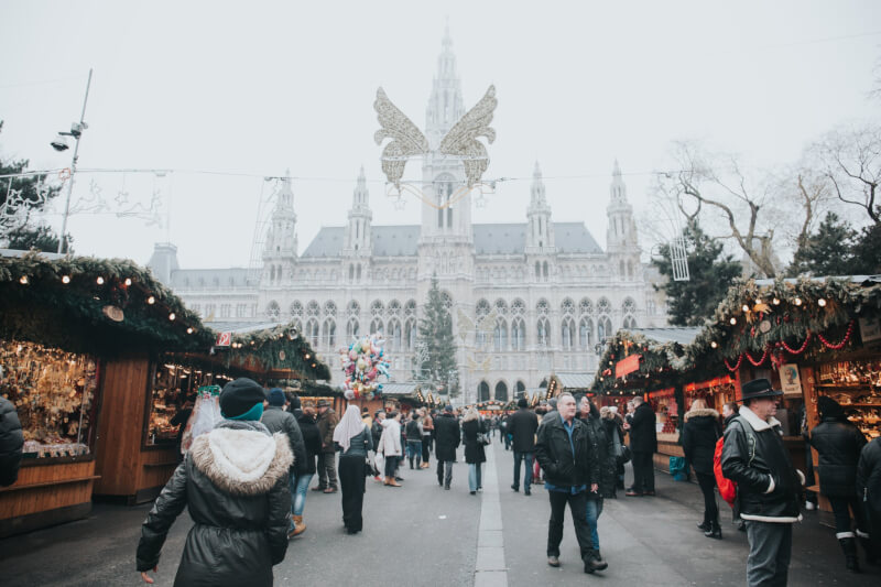 image of Vienna Christmas Market, best places to travel to in winter