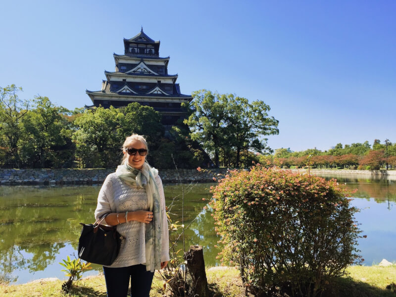 image of Hiroshima castle in Japan itinerary