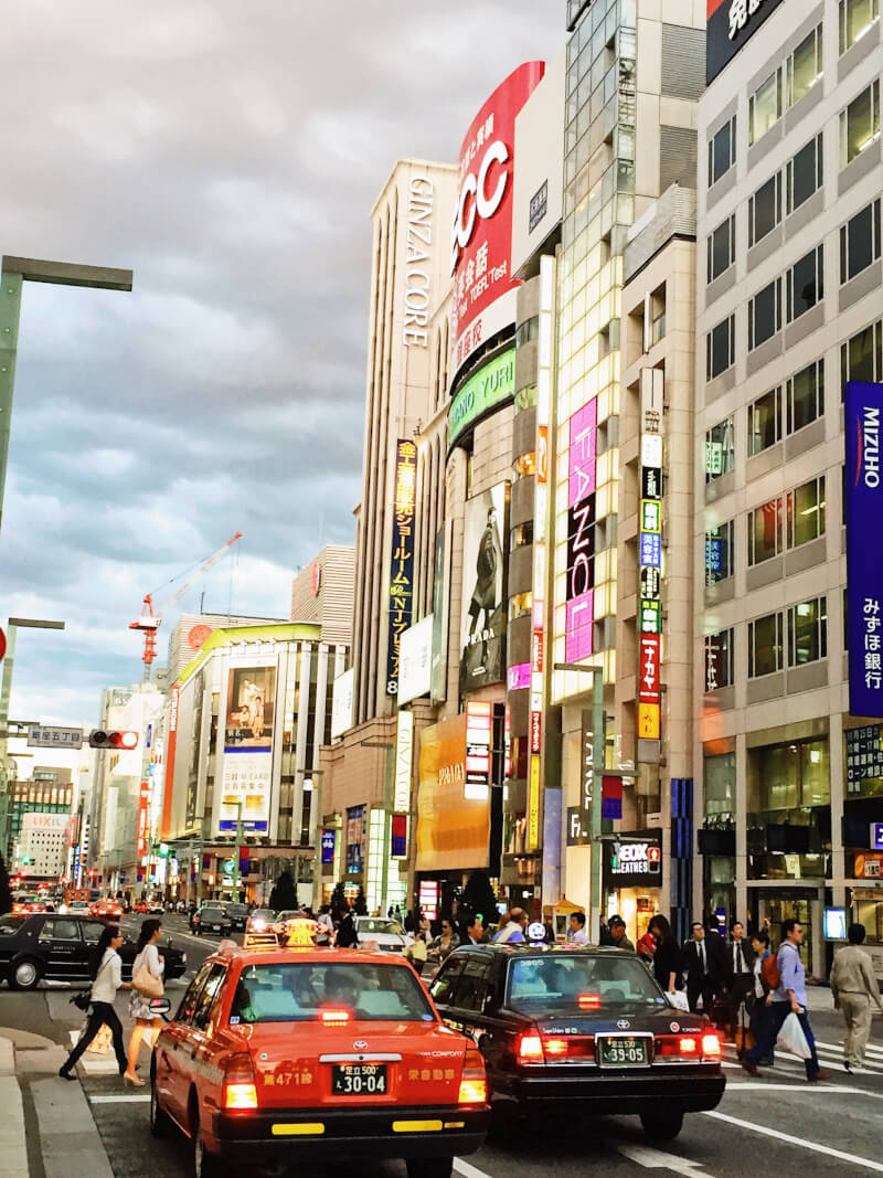 image of Ginza in Japan itinerary