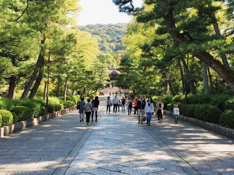 image of park in Kyoto in Japan itinerary