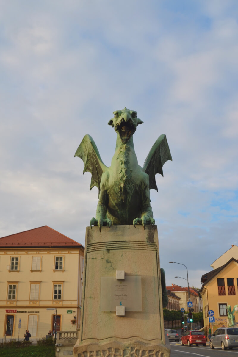 image of dragon bridge, one of the best things to do in Ljubljana