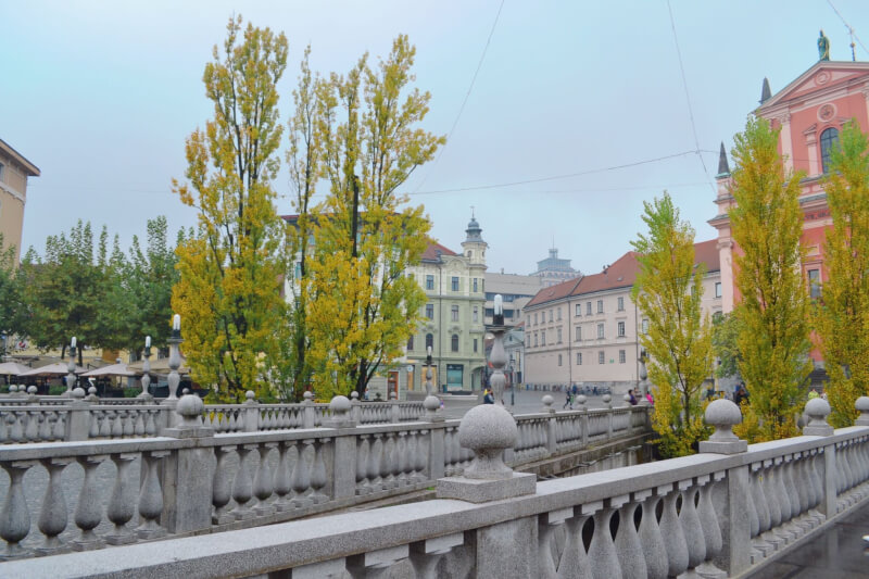 image of triple bridge, one of the best things to do in Ljubljana