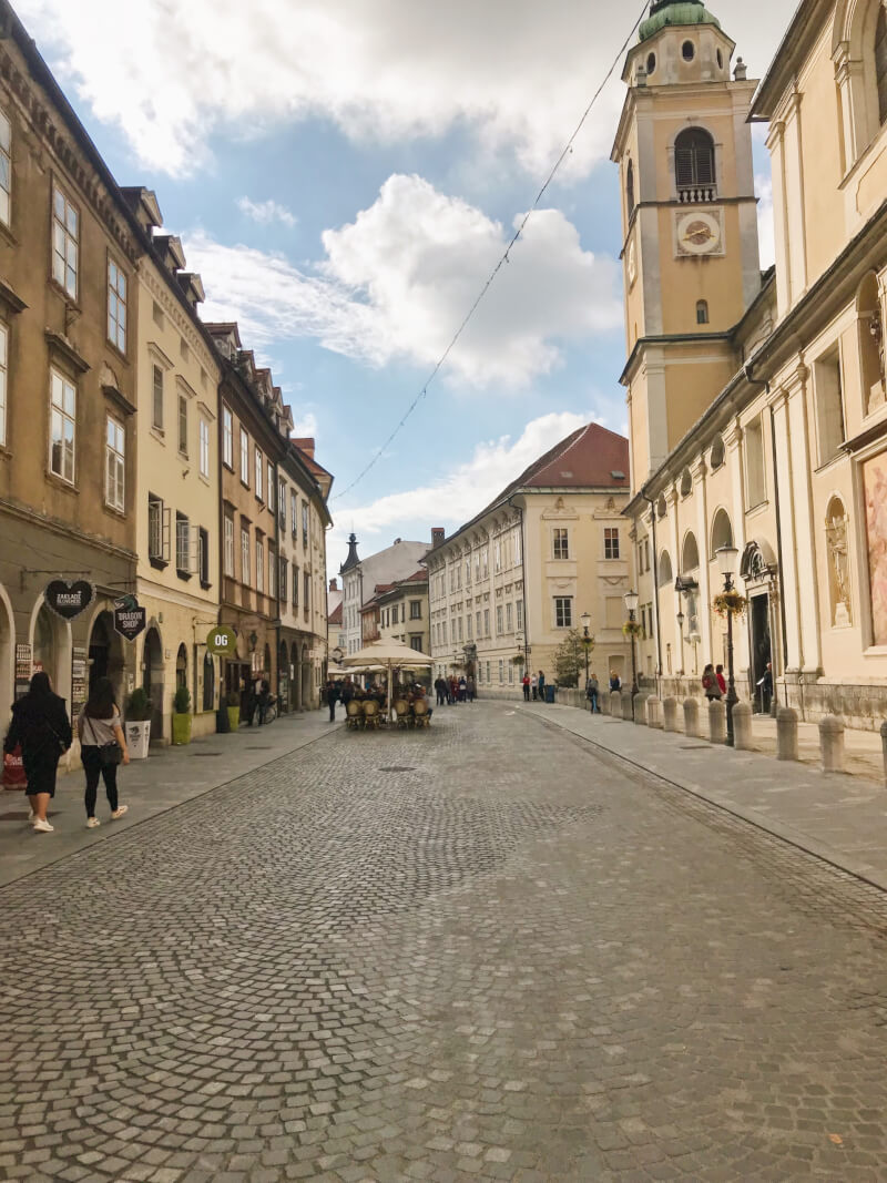 image of old town in Ljubljana
