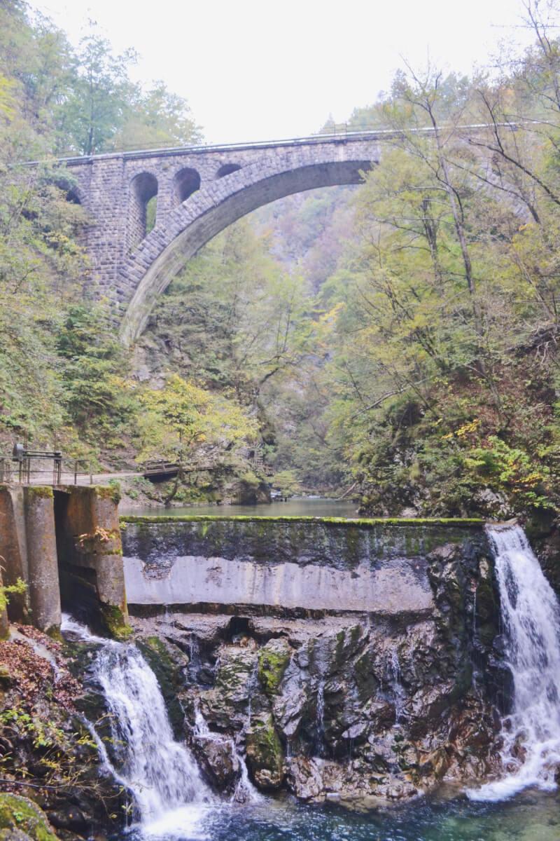 image of Vintgar gorge bridge