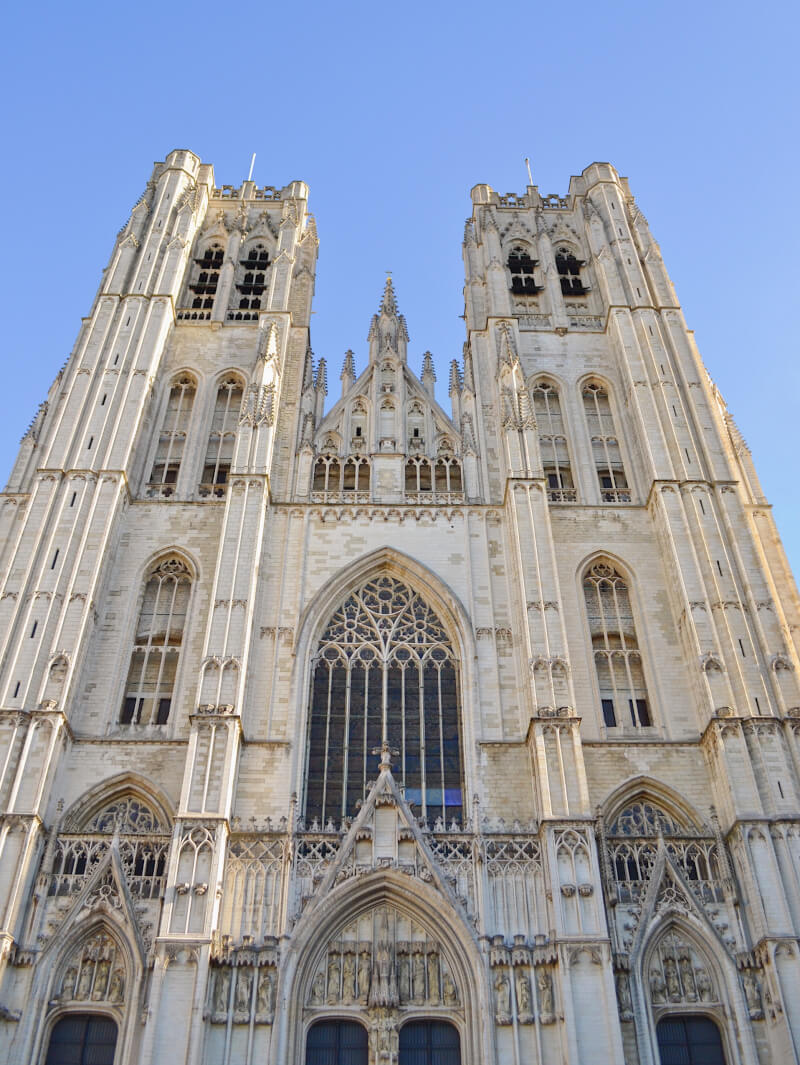 image of saint Michel cathedral in Brussels
