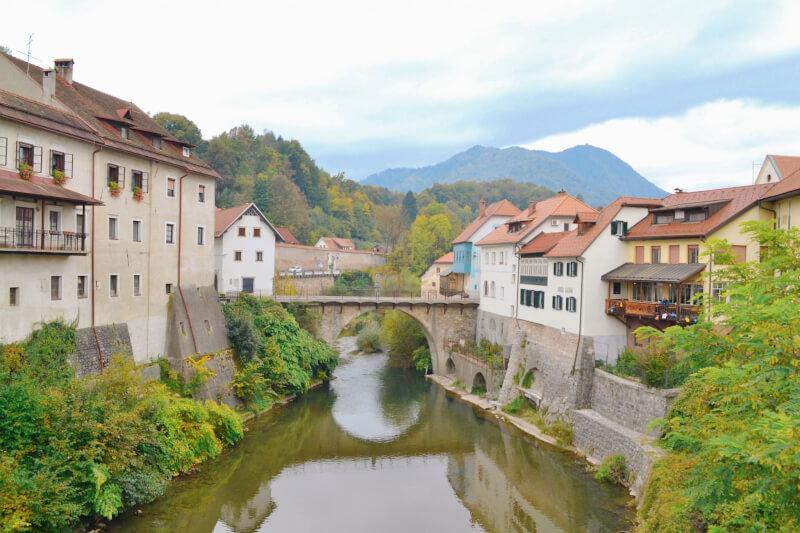 image of Skofja Loka bridge taken on day trip to Lake Bled