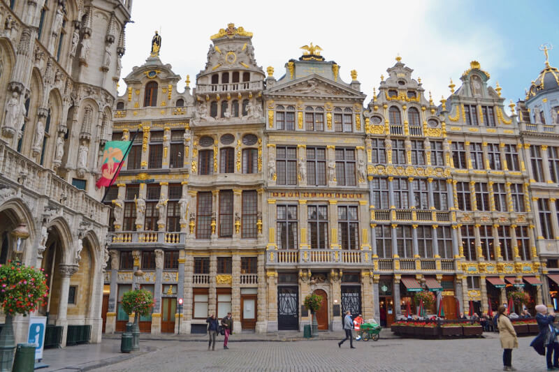 image of guild house in grand place, 24 hours in Brussels