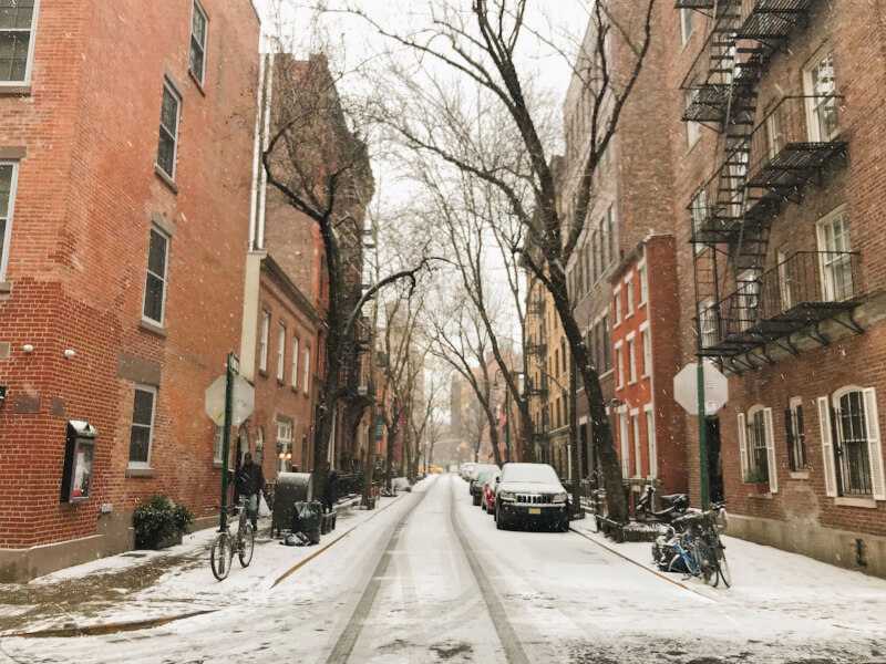image of East Village in the snow