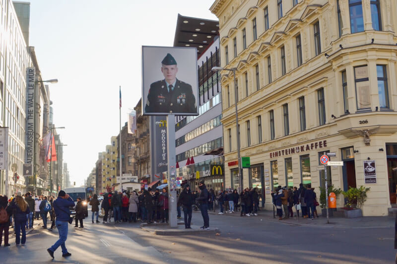 image of checkpoint Charlie, things to do in Berlin