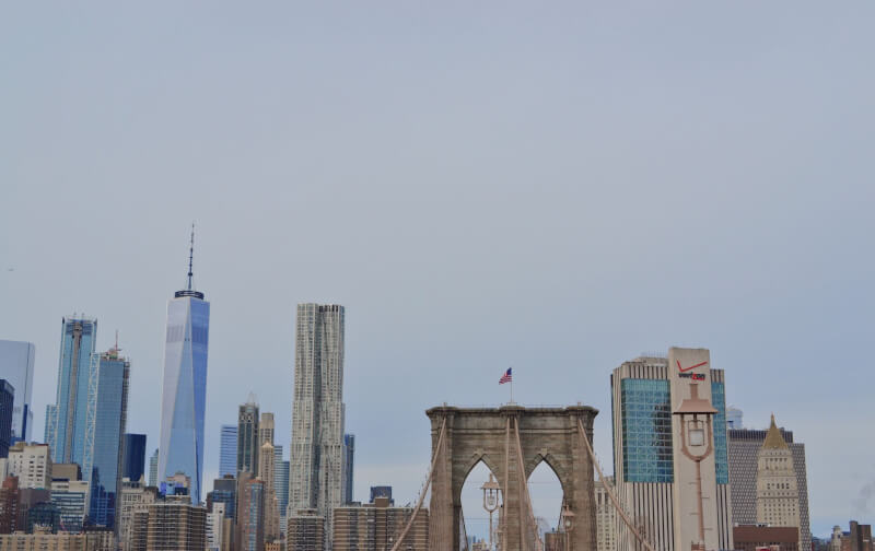 image of view of Brooklyn Bridge