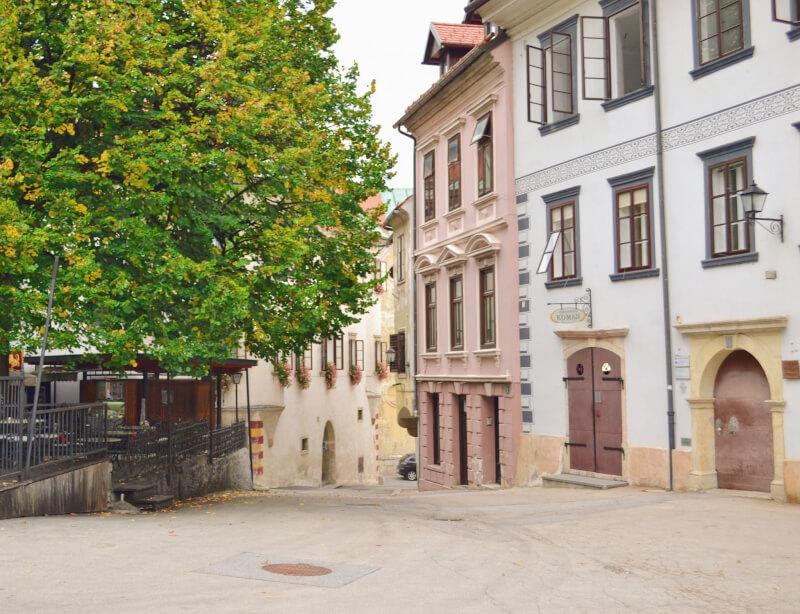 image of Skofja Loka town square