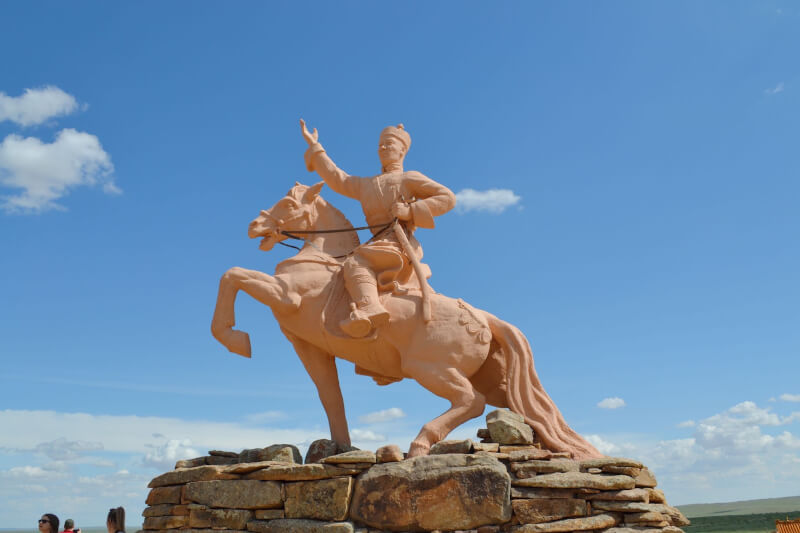 image of statue of Genghis khan which will be frequently seen when visiting Mongolia
