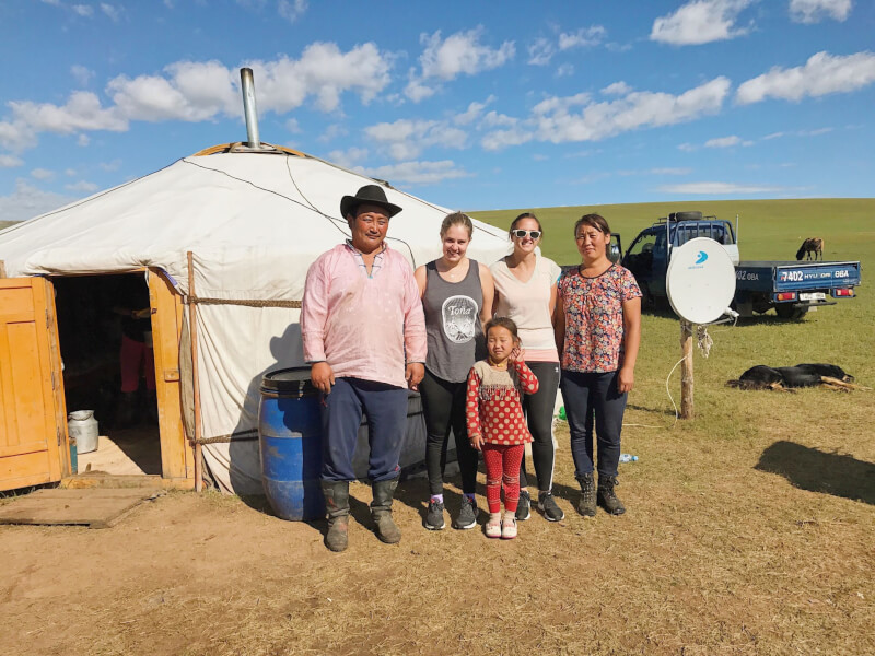 Image of Nomadic Mongolian Family