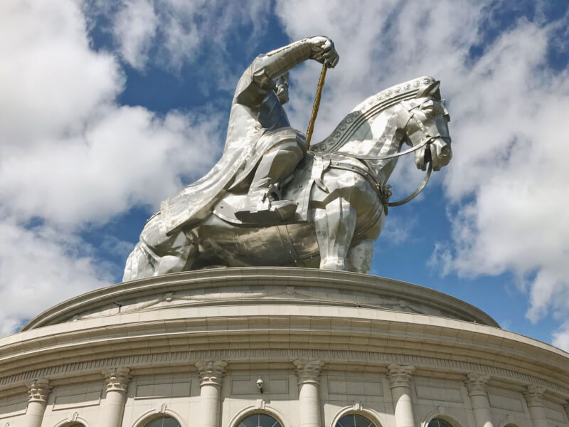 image of statue of genghis Khan, a reason to visit Mongolia