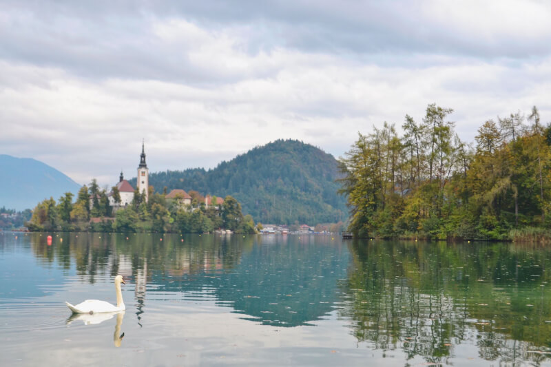 image of Lake Bled in Slovenia