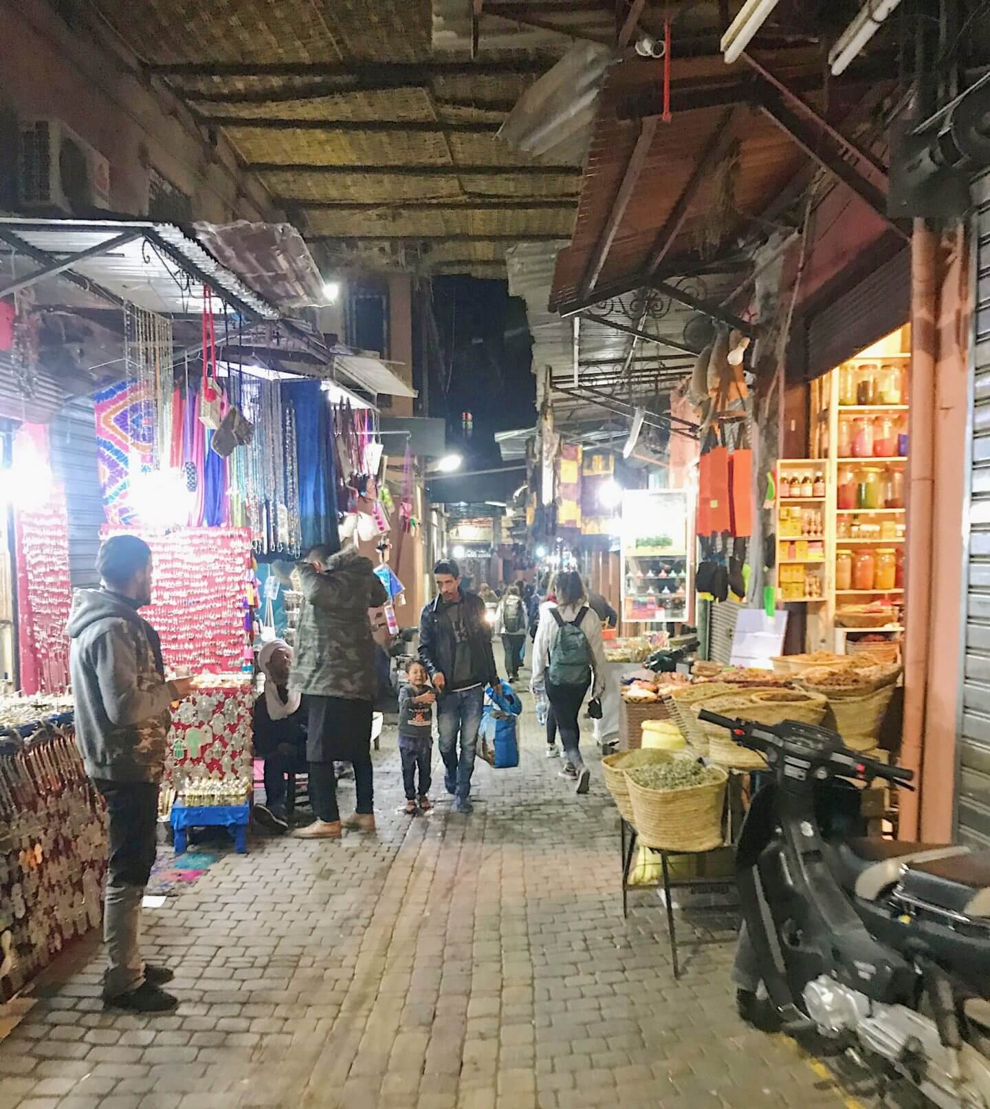 image of the souks in Marrakech