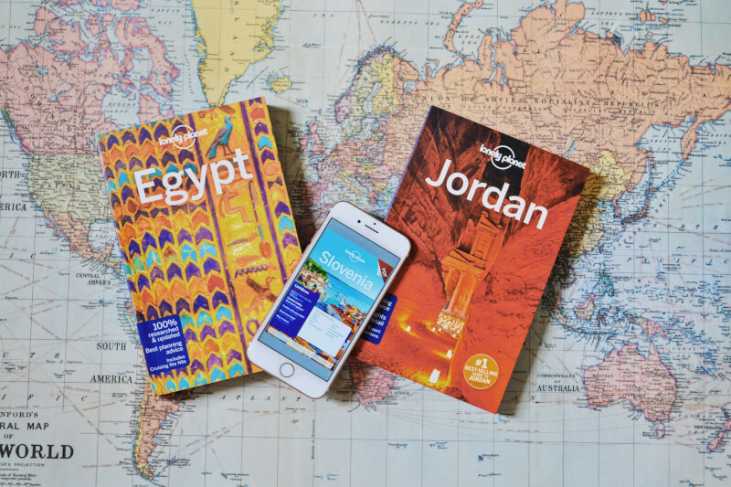 image of lonely planet guide books