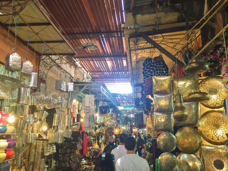 image of the souks of Marrakech